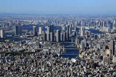 東京スカイツリーから見た佃・月島・晴海・勝どき