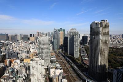 世界貿易センタービルから見た東京スカイツリー