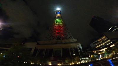 深夜の東京スカイツリードライブ!オリンピックカラー編
