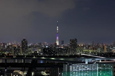 東京スカイツリー夜景「ラベンダー」