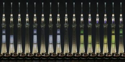 東京スカイツリー特別ライティング「AGAIN」