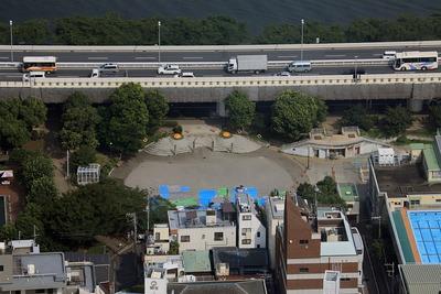 隅田川花火大会「墨田公園の場所取り」
