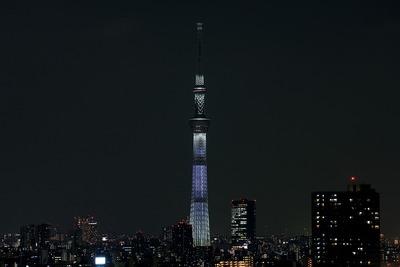 東京スカイツリー開業2周年記念特別ライティング『咲』