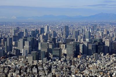 展望回廊から見た東京の超高層ビル群