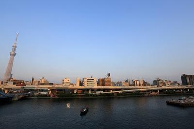 隅田川花火大会の第二会場と東京スカイツリー