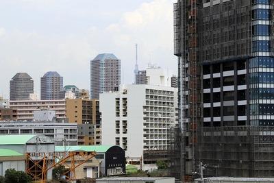 晴海の中央清掃工場から見た東京スカイツリー