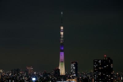 東京スカイツリー開業2周年記念特別ライティング『明花(ラベンダー)』