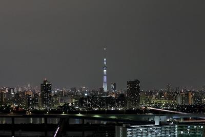 東京スカイツリー 白色のライティング