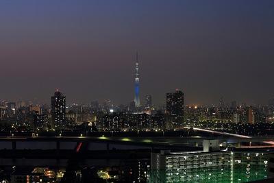 東京スカイツリー夜景「国連創設70周年記念特別ライティング」