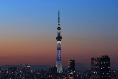 マジックアワーの東京スカイツリー