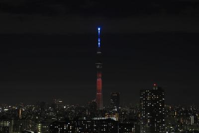 東京スカイツリー試験点灯