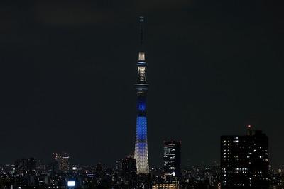 東京スカイツリー開業2周年記念特別ライティング『七夕』
