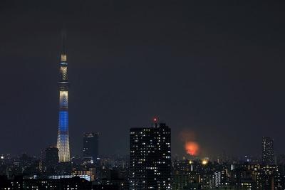 戸田橋・いたばし花火大会と東京スカイツリー