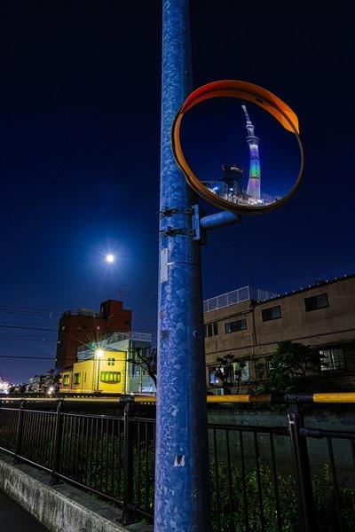 満月と7周年ライティング
