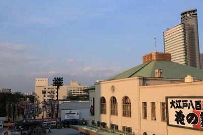 両国国技館と東京スカイツリー