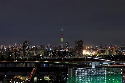 東京スカイツリー夜景「ベルギー国旗」