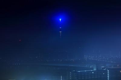 濃霧と東京スカイツリー
