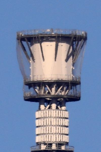 ゲイン塔の着雪防止ネット