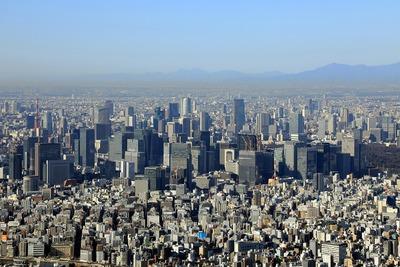 東京スカイツリーから見た東京都心の超高層ビル群