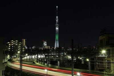 東京スカイツリー「光の3原色」