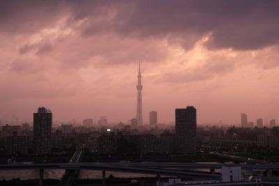 夏至の東京スカイツリー夕景