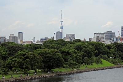アトレ竹芝から見た東京スカイツリー