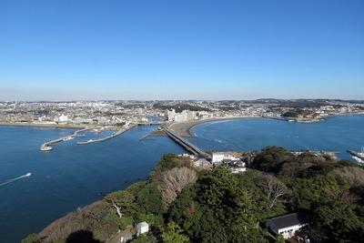江ノ島のシーキャンドルからの眺め