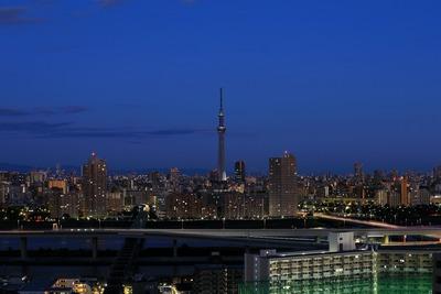 夜明けの東京スカイツリー