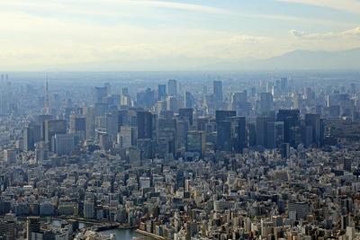 天望回廊から見た東京超高層ビル群