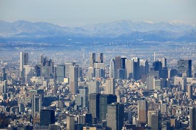 天望回廊から見た新宿方面