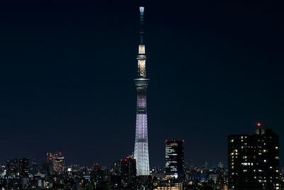 東京スカイツリー特別ライティング「ホワイトショコラ」