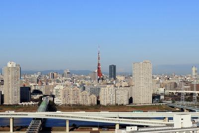 東京スカイツリーが東京タワーに