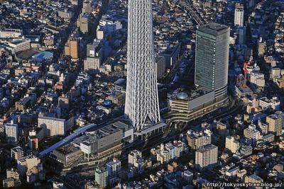 東京スカイツリータウンの空撮