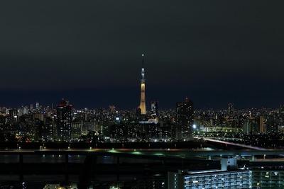 東京スカイツリー夜景「2020年東京オリンピックへ!」