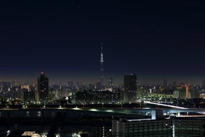 東京スカイツリー作業灯点灯
