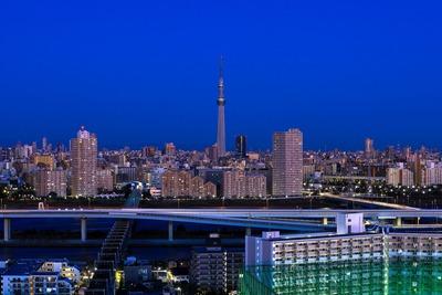 夜明けの東京夜景