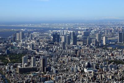 東京スカイツリーから見た豊洲・東雲方面