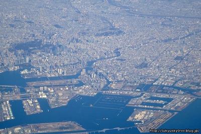 旅客機から東京空撮