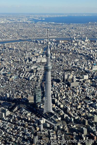 東京スカイツリーの空撮