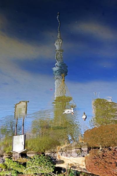 水彩画のような東京スカイツリー