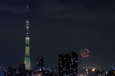 東京スカイツリーと第57回いたばし花火大会