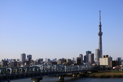 首都高C2から橋と東京スカイツリー