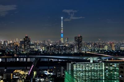 茨城県をイメージした特別ライティング