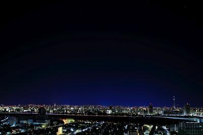 オリオン座と東京タワーと東京スカイツリー