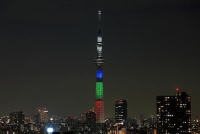 東京スカイツリー 光の3原色