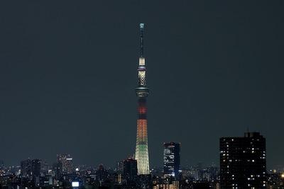 東京スカイツリー夜景「明花:マリーゴールド」