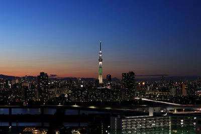 クリスマスライブの東京スカイツリー