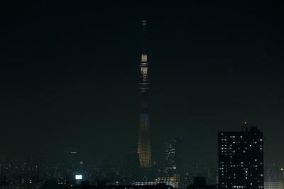 東京スカイツリー開業2周年記念特別ライティング『ラブリーショコラ』