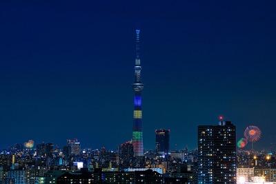 東京スカイツリーと花火大会