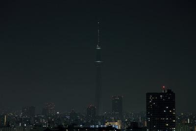 深夜の東京スカイツリー